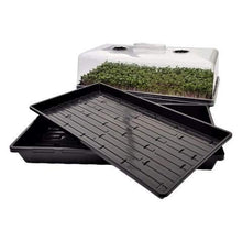 Load image into Gallery viewer, Bootstrap Farmer Microgreen Tray Hobby Starter Bundle 2 of Each - Extra Strength Microgreen Tray with Holes, Shallow 1020 No Holes, and Humidity Domes