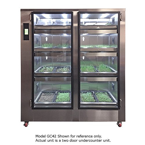 Carter-Hoffmann GC11 Gardenchef Herb and Microgreen Growing Cabinet, Two Door Undercounter Unit 37.25