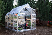 Load image into Gallery viewer, Palram HG5508PH Hybrid Hobby Greenhouse, 6' x 8', Silver, Plant Hangers Included