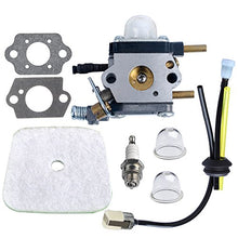 Load image into Gallery viewer, HIPA C1U-K54A Carburetor with Air Filter Repower Kit for 2-Cycle Mantis 7222 7222E 7222M 7225 7230 7234 7240 7920 7924 Tiller / Cultivator