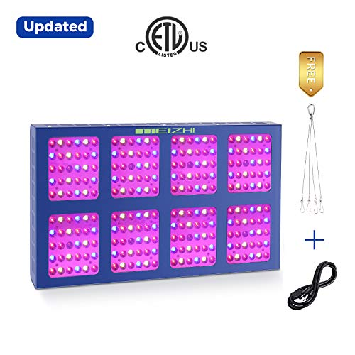 1200W LED Grow Light MEIZHI Updated Version Reflector Series Full Spectrum for Indoor Plants Veg and Flower - Dual Switches and Daisy Chain 1200w led Grow Light