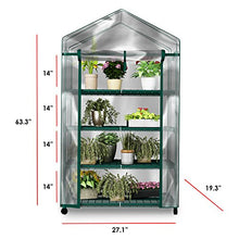 Load image into Gallery viewer, Green House HC-4201 Mini Greenhouse-4-Tier Indoor Outdoor Sturdy Portable Shelves-Grow Pla