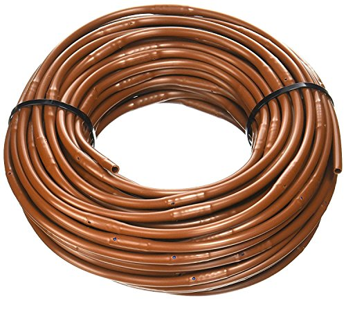 1/4-Inch x 100-Feet Irrigation / Hydroponics Dripline with 6-Inch Emitter Spacing (Brown)