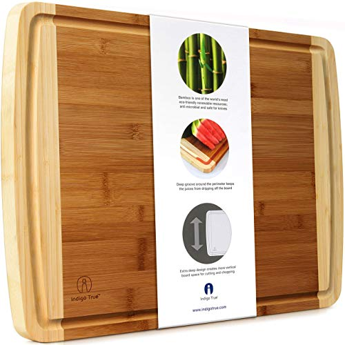 Indigo True Bamboo Cutting Board - Extra Large 17.5