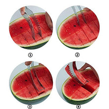 Load image into Gallery viewer, Kitchen Tools - Cantaloupe Stainless Steel Cutter Watermelon Melon Slicer Manual Fruit - Vegatable Mill Plastic Bag Bucket Pepper Milkcan Meat Utensils Tape