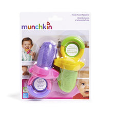 Load image into Gallery viewer, Munchkin Fresh Food Feeder, 2 Pack, Purple/Green