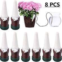 Load image into Gallery viewer, JETTINGBUY 8 Pcs Indoor Automatic Watering System Drip Irrigation Device, Gardening Tools for Flower Pots Self Plant Waterer Ceramic Probes,Slow Release Houseplant Spikes Self Watering