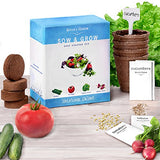 Heirloom Salad Seed Starter Kit - Grow 4 Organic Vegetables from Seeds. Set Contains Growing Pots, Soil, Plant Labels & Guide. Fun Garden Gift for Men & Women by Nature's Blossom