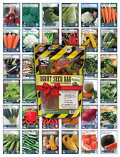 Load image into Gallery viewer, 22,000 Non GMO Heirloom Vegetable Seeds, Survival Garden, Emergency Seed Vault, 34 var, Bug out Bag