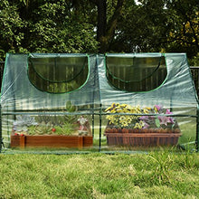 "Load image into Gallery viewer, Quictent Waterproof UV protected Reinforced Mini Cloche Greenhouse 71"" WX 36"" D X 36"" H Portable Green Hot House"