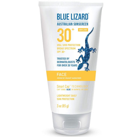 Blue Lizard Face Mineral-Based Sunscreen with Hydrating Hyaluronic Acid SPF 30