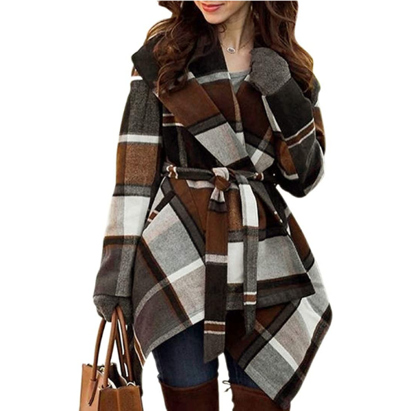 Women's Turn Down Shawl Collar Coat