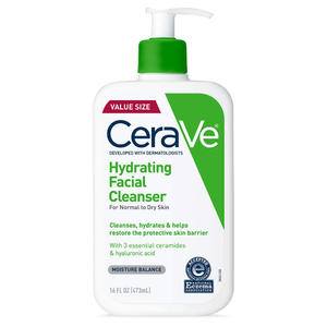CeraVe Hydrating Facial Cleanser Moisturizing with Hyaluronic Acid, Ceramides & Glycerin