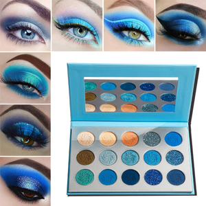 Blue Eyeshadow Palette Makeup