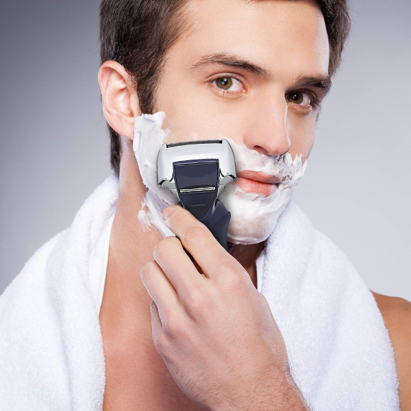Electric Razor for Men with Pop-Up Beard Trimmer