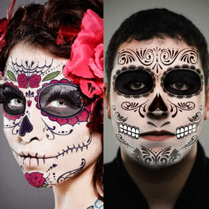Halloween Makeup | Face Tattoos