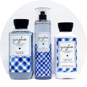 Bath and Body Works Gingham The Daily Trio Gift Set Shower Gel Fragrance Mist & Lotion