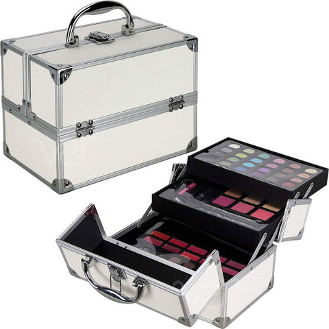 Teens Girls Starter Makeup Cosmetic Kit Set Storage Case 55 Piece All In One