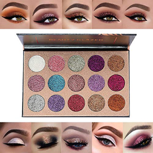 Glitter Eyeshadow Palette Shimmer Powder Long Lasting Waterproof