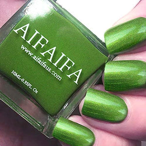 Nail Polish Metallic Green