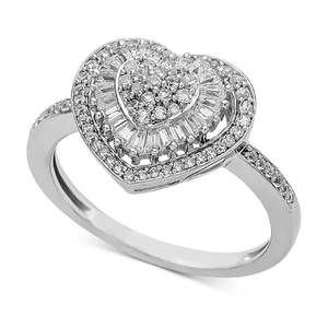 Jewelry | Diamond Heart Cluster Ring