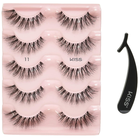 False Eyelashes KISS Products Ever EZ Lashes, 5 Pair