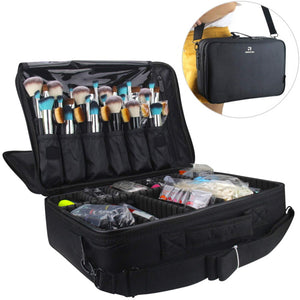 Professional Makeup Train Case Cosmetic Bag