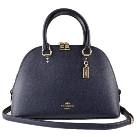 Midnight Blue Katy Satchel In Signature Canvas