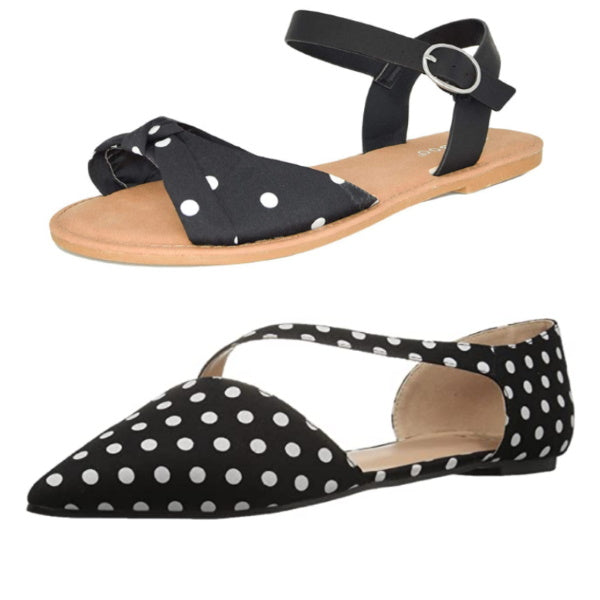Women's Black and White Polka Dot Shoes