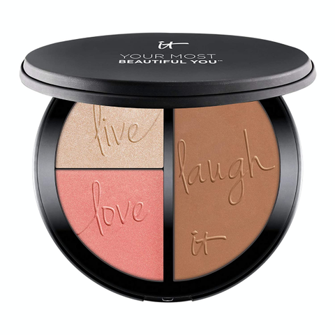 IT Cosmetics Anti-Aging Matte Bronzer Blush Palette - With Hydrolyzed Collagen