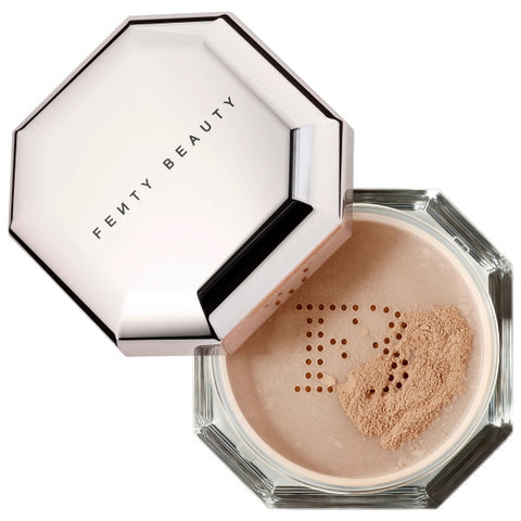 Shop today for Setting Powder by Fenty Beauty.  A superfine, weightless, loose setting powder in eight sheer shades to perfect and extend makeup wear for a filtered, photo-ready finish on lock.  Available at Makeup My Way