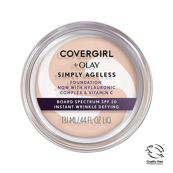 CoverGirl & Olay Makeup | Creamy Natural Simply Ageless Instant Wrinkle Defying Foundation