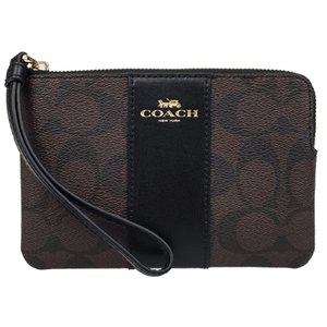 Coach Handbags and Purses | F58035 Corner Zip Wristlet in Signature Coated Canvas