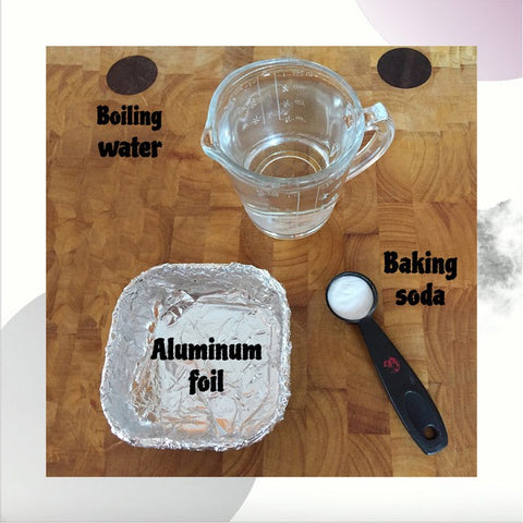 Cleaning silver jewelry at home