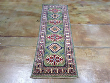 Load image into Gallery viewer, Fine Caucasian Design Super Kazak Hand-Knotted 100-Percent Wool Runner-Rug