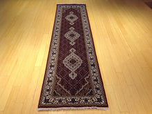 Load image into Gallery viewer, Fine Wool & Silk Hand-Knotted Geometric Design Handmade Runner-Rug