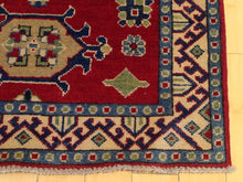 Load image into Gallery viewer, Traditional Kazak Tribal Design Handmade Hand-Knotted 100-Percent Wool Runner-Rug