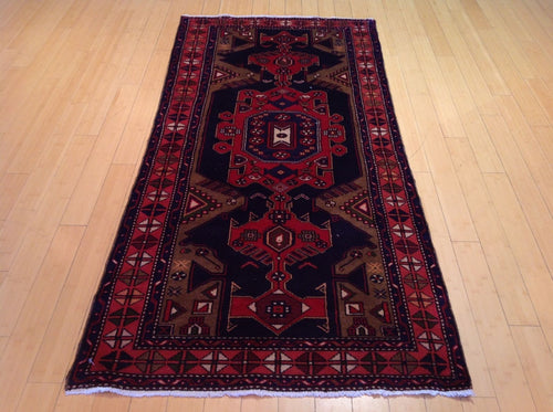 Persian Oriental Tribal Runner-Rug 100-Percent Wool Hand-Knotted Handmade