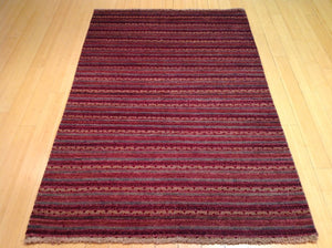 Beautiful Oriental Gabbeh Striped Design Lovely Handknotted Real Wool Handmade Unique Rug