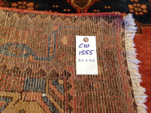 Persian Vintage Tribal Handmade Hand-Knotted 100-Percent Wool Runner-Rug