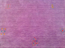 Load image into Gallery viewer, Beautiful Purple Handloomed Modern Gabbeh Design Real Wool Classy Handknotted Unique Rug