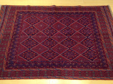 Load image into Gallery viewer, Beautiful Interior-Decorator Pretty Handknotted Handwoven Afghan Tribal Mashwani Classy Real Wool Rug
