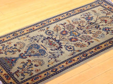 Load image into Gallery viewer, Floral Vintage Indo Design Handmade Hand-Knotted 100-Percent Wool Runner-Rug