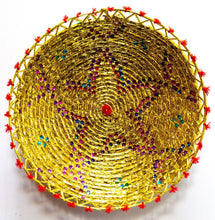 Load image into Gallery viewer, 17inches handwoven southwestern design handmade golden basket best quality 147