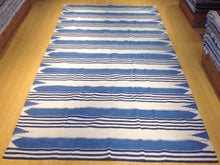 Load image into Gallery viewer, Hand-Woven Cotton Striped Design Darrie Handmade Kilim Runner-Rug