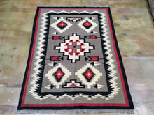Load image into Gallery viewer, Beautiful Interior-Decorator Pretty Gorgeous Handwoven Reversible Southwestern Design Kilim Real Wool Rug