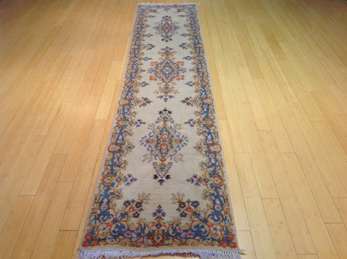 Vintage Hand-Knotted Tribal Design Handmade 100-Percent Wool Runner-Rug