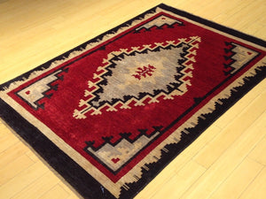 Fine Oriental Southwestern Design Handmade Lovely Handknotted Real Wool Amazing Unique Rug