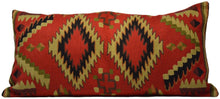 Load image into Gallery viewer, Geometric Vintage Style Hand-Woven Kilim Pillow Cover