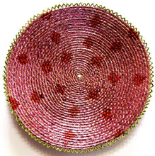 Load image into Gallery viewer, 15inches handwoven southwestern design basket pinkish red confetti 129